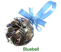 Bluebell pewter pomander with pot pourri