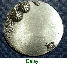 Keepsake box with inscribed pewter Daisy plaque