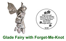 Glade Fairy collectable in pewter with peep