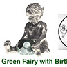 Green fairy collectable in pewter with peep