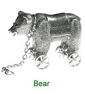 Miniature Bear Nursery Time collectable in pewter