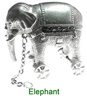 Miniature Elephant Nursery Time collectable in pewter