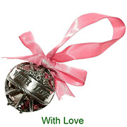 With Love pewter pomander with pot pourri