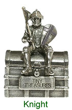 Tiny Treasures Knight treasure chest in pewter