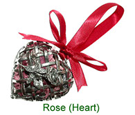 Rose Heart pewter pomander with pot pourri