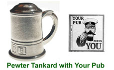 Miniature Tankard collectable in pewter with peep