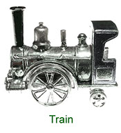Miniature Train Nursery Time collectable in pewter