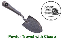 Miniature Trowel collectable with peep in pewter